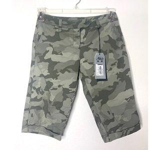 NWT XS Italian Brand Ake Camo Bermuda Shorts